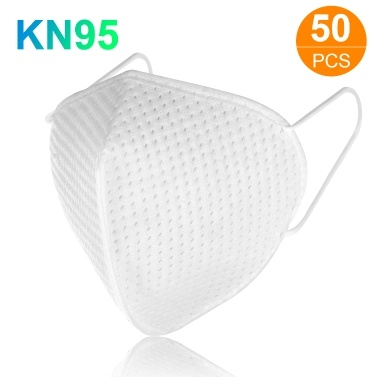 50pcs KN95 Face Mask with Elastic Earloop 4-Layer Filter Soft Breathable Respirator Protective Mask Filtering 95% Particles Face Sanitary Safety Mask Against Dust Fog Haze Air Pollution