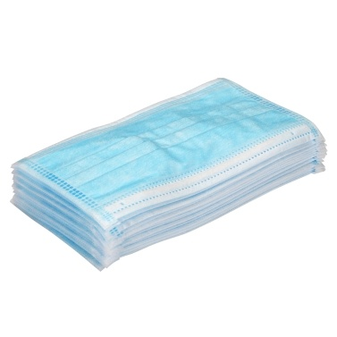 【Ship From US】20pcs 3-Ply Disposable Face Mask with Elastic Earloop Anti-foaming Splash Anti Dust Blue