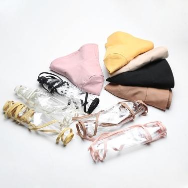 Women Bucket Hat Removable Protective Face Shield Clear Visor Transparent Mask Anti Splash Summer Sun Hat Fishing Beach Travel Caps Casual Hats