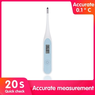 LCD Digital Thermometer Electronic High Accuracy Household Waterproof Armpit Thermometer for Baby Child-Adult Portable