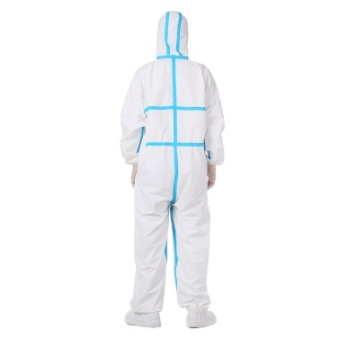 Coverall Medical High Antibacterial Reusable Plastic Closures Isolation Suit