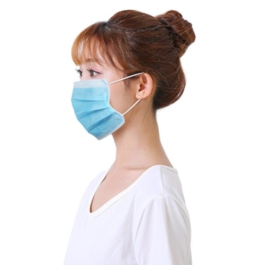 20pcs Disposable Mask 3 Layers Breathable Non-woven Earloop Face Mouth Cover Dust Pollen Allergies Filter Protective Sanitary Mask for Flu Season Dailywear Blue