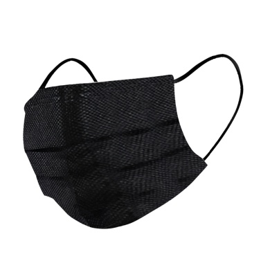 50PCS Black Disposable Mouth Cover 3-Layer Safety Non-woven Fabric Filtration Soft Breathable Face Cover