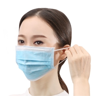 50PCS Medical Disposable Masks 3 layer Non-woven Anti-Particle Anti-droplet Anti-pollen Dust-proof Breathable Dustproof Face Mask