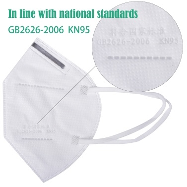 10pcs 4-Ply Disposable KN95 Mask Breathable Non-woven Sanitary Protective Face Mouth Masks for Dust Particles Pollution Personal Health