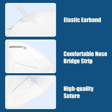 KN95 Face Masks 4-Ply Disposable Folding Protective Face Mouth Masks