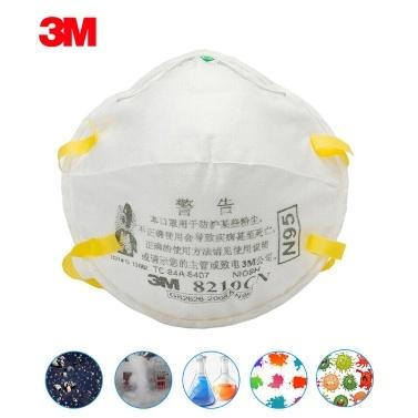 3M 8210 KN95 Particulate Respirator Protective Masks Safety Mask PM2.5 Smog Haze Dustproof Mouth Mask