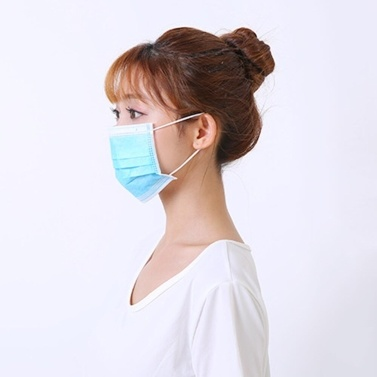 1Pcs Disposable Mask Non-Woven Masks 3-Layer Comfortable Sanitary Mask Anti-dust Mouth Face Mask Blue