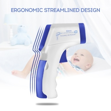 Ear Forehead Thermometer Mini Digital Infrared Baby Temperature Gauge Instrument for Kids Children and Adults