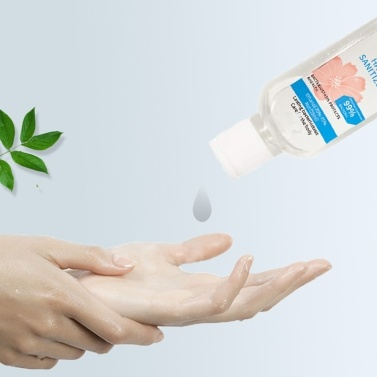 【Ship from US】Portable Hand Sanitizer with Ring 99% Effective B-acteria Elimination Lasting B-acteriastasis Protects and Health Ethanol 70-75% 55ml