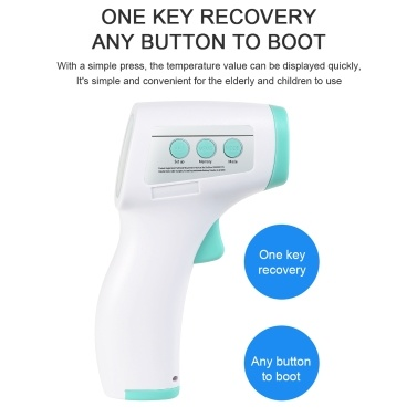 Digital Forehead Thermometer Infrared Baby Thermometer Non-contact Body Temperature Gauge High Sensitivity Temperature for Baby with Fever Alarm