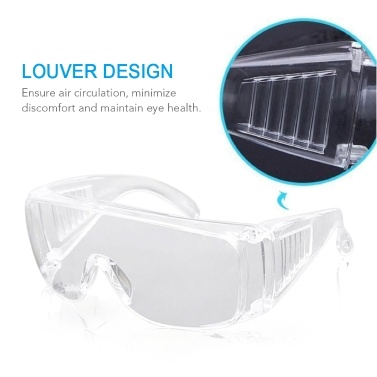 Protective Goggles Safety Goggles Anti-fogging Anti-dust Anti-wind UV Protection Breathable Protective Eyewear