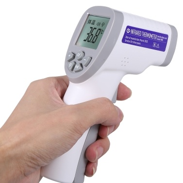 Non-contact IR Infrared Thermometer Forehead Digital Temperature Measurement LCD Digital Display Fast Measure Infrared Thermometer Battery Low Alert for Baby Kids Adult