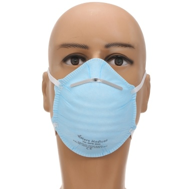 20PCS Cup Type FFP2 Protective Masks 3-layer Face Mask 94% Filtration Respirator Non-woven Mask Safety Masks for Dust Particles Pollution Daily Use Outdoor Activities