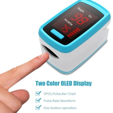 Digital Fingertip Pulse Oximeter OLED Display Blood Oxygen Sensor Saturation SpO2 Monitor Measurement Meter