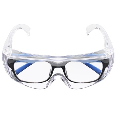 Safety Glasses Adults Personal Protective Eyewear with Clear Anti Fog Scratch Resistant Lenses Use with Prescription Glasses