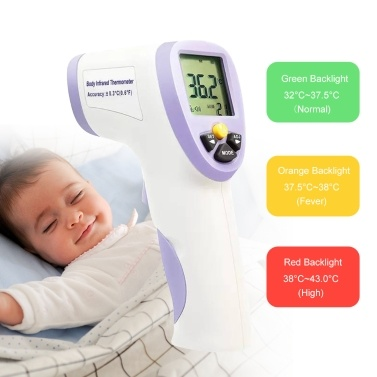 Non-contact Skin Body Infrared Thermometer Digital Smart LCD Thermodetector for Baby Kids Adult