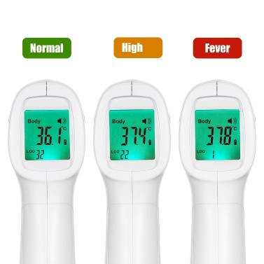 Non-contact IR Infrared Thermometer Forehead Digital Temperature Measurement LCD Digital Display Fast Measure Infrared Thermometer for Baby Kids Adult