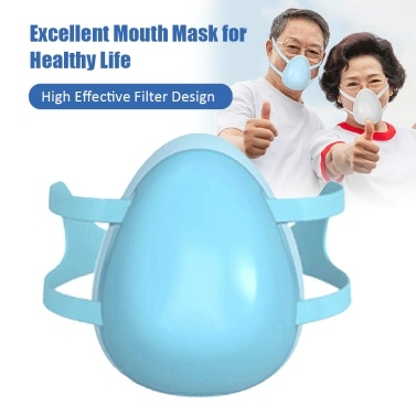 3-Layer Breathable Reusable Face Mask Anti Dust PM2.5 Particle Flexible Adjustable Earloop Mouth Mask Sanitary Mask White for Adult Kids Children