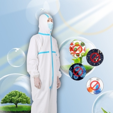 Coverall Disposable Anti-epidemic Plastic Closures Isolation Suit Prevent Invasion for Staff Protective Clothing Dust-proof Coveralls Antistatic