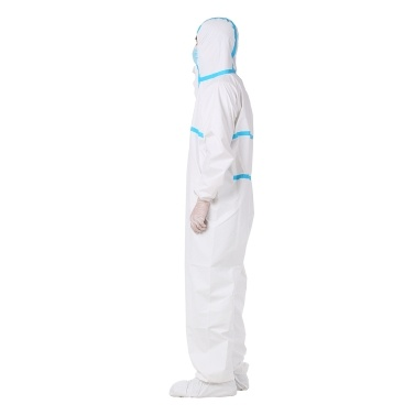 Coverall Disposable Anti-epidemic Isolation Suit for Staff Protective Clothing Dust-proof Coveralls Antistatic