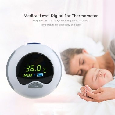 ACurio AT-601 Thermometer Digital Infrared LCD Temperature Monitor Mini Ear Thermometer for Baby Kids