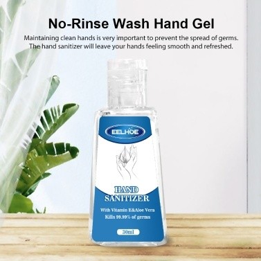 30ml Disposable Hand Sanitizer Hands Free Water Disinfection Hand Wash Gel
