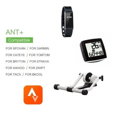 Bike Speed/Cadence Sensor 2-in-1 Sensor Wireless ANT+ BT for iOS, Android Bike Computer Fitness Tracker Speedometer