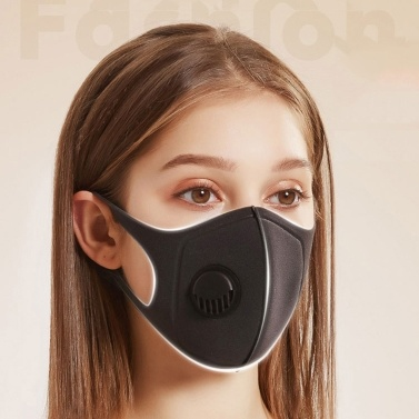1Pcs Dustproof Mouth Cover Sponge Cover with Breathing Valve Fog-proof Face Mouth Cover