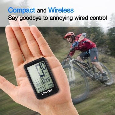 Lixada USB Rechargeable Wireless Bike Cycling Computer Bicycle Speedometer Odometer