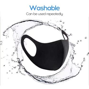 Odor-free Riding Dust-proof and Anti-fog Mask Sponge Black 1PC