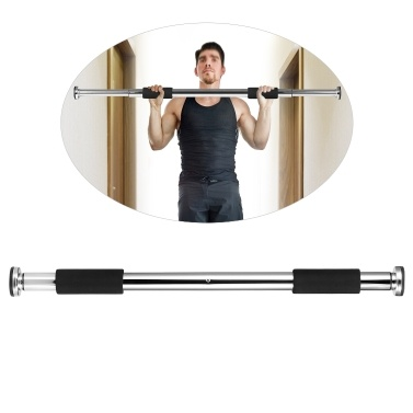 Adjustable Doorway Pull Up Bar Fitness Door Way Chin Up Horizontal Home Gym Exercise Fitness Workout Equipment 220LB Bearing