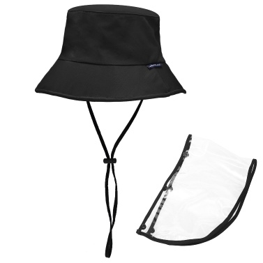 Protective Hat with Removable Transparent Face Shield Men Women Full Face Hat for Camping Hiking Fishing Travel